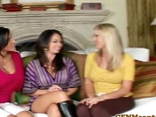 Cfnm Femdoms Butt-banged In Group After Playthings