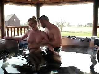 Amazing Cougar Fucks Spouse In The Outdoor Jacuzzi