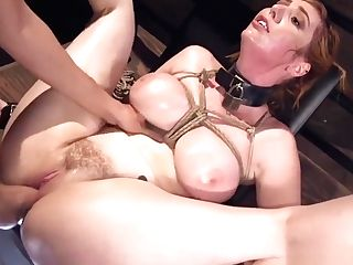 Encaged Chesty Big-boobed Honey Throated By Dom