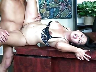 Gorgeous Assistant With Big Jugs Jessica Bangkok Entices Her Bald...