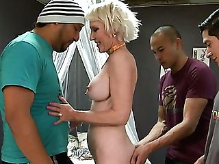 Real Cougar With Big Fun Bags Dalny Marga Works On Three Strong Fat...