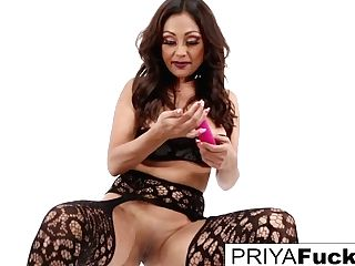 Indian Mummy Priya Rai Satiates Herself And Squirts All Over