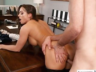 Attractive Ladyboss Abigail Mac Gets Her Vag Tongued And Fucked In...