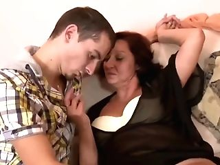 Elder Mom With Saggy Tasty Tits & Stud