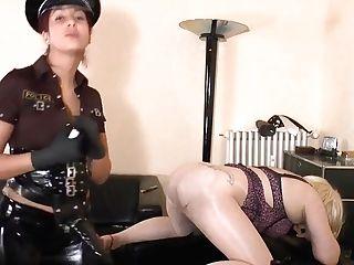 German Mistress - Cop Fem Dom Belt Dick