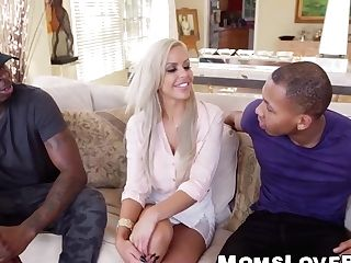 Beautiful Big Tits Mummy Nina Elle Hammered By Monster Dicks